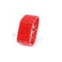 Original Boutique Led Kol Saati Kordon Görünümlü Plastik Kırmızı