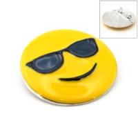 Solfera Karizmatik Emoji Güneş Gözlüğü Broş Rozet Metal Aksesuar İğnesi Rz004