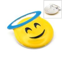 Solfera Melek Emoji Smile Broş Rozet Metal Aksesuar İğnesi Rz006