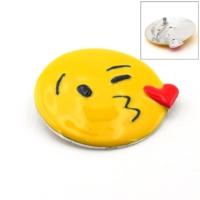 Solfera Öpücük Kiss Emoji Broş Rozet Metal Aksesuar İğnesi Rz003
