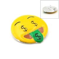 Solfera Dolar Para Emoji Broş Rozet Metal Aksesuar İğnesi Rz002