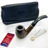 Falconetti Pipo Başlangıç Seti - Ebony Kıvrık Ahşap Pipo Ps97