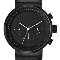 Projects Watches Kiura Black Leather Kol Saati