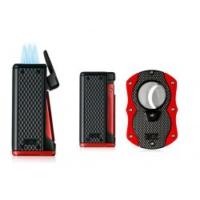 Colibri Monza 3 Alev Çakmak ve Kesici Seti Siyah/Kırmızı