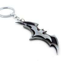 Solfera Batman Logo Antrasit Metal Anahtarlık Kc611