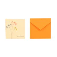 Kart-10 Geçmiş Olsun Kartı Turuncu Zarf