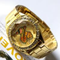 Bonalodi Renkli Ayıcıklı Altın Renk Çelik Saat