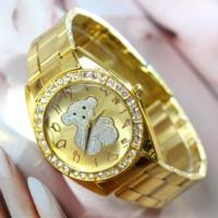 Bonalodi Gümüş Ayıcıklı Altın Renk Çelik Saat