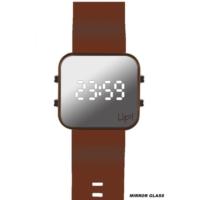 Upwatch Led/Kahverengi Unisex Kol Saati
