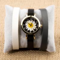 Zeblaze Tmkd004C Papatya Resimli Kordonu Değiştirilebilir Kadın Kol Saati