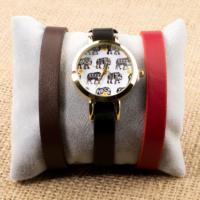 Zeblaze Tmkd005C Fil Figürlü Tasarım Kordonu Değiştirilebilir Kadın Kol Saati