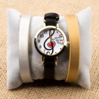 Zeblaze Tmkd008B Sol Anahtarı Kalp Figürlü Kordonu Değiştirilebilir Kadın Kol Saati