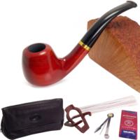 Falconetti Red Sandalwood Sarı Bilezikli Pipo Seti pt90