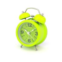 Hunga Alarmlı Metal Tokmaklı Işıklı Masa Saati Yeşil