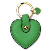 Leather & Paper Yeşil Deri Kalp Anahtarlık