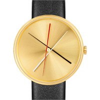 Projects Watches Crossover Brass Black Leather Unisex Kol Saati