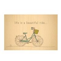 Biggdesign Bisiklet Ahşap Kartpostal