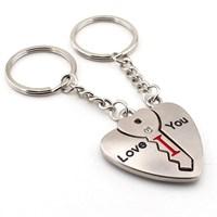 Solfera I Love You Kalp Anahtar Metal Anahtarlık Kc597