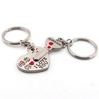 Solfera Kalp Anahtar Metal Anahtarlık I Love You Kc602