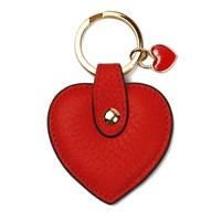 Leather&Paper Kırmızı Deri Kalp Anahtarlık