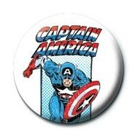 Pyramid International Rozet - Marvel - Captain America Retro