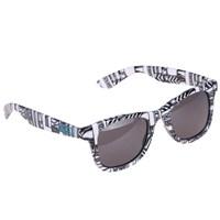 Vans Janelle Hıpster Sunglasse Beyaz Siyah Kadın Güneş Gözlüğü