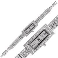 Gumush Gümüş Dikdörtgen Kadranlı Saat
