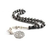 Tesbihevim Gürcistan Oltu Tesbih 1000 Ayar Gümüş Kazaz Püsküllü