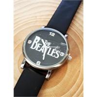 Köstebek The Beatles Yazı Siyah Kol Saati