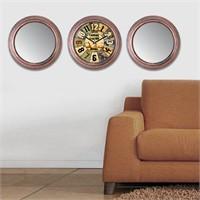 Cadran Home 2'Li Ayna Ve Duvar Saati Set Chas10