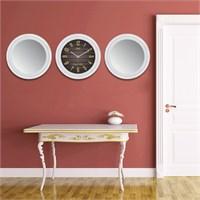 Cadran Home 2'Li Ayna Ve Duvar Saati Set Chas19