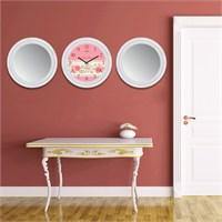 Cadran Home 2'Li Ayna Ve Duvar Saati Set Chas24