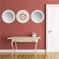 Cadran Home 2'Li Ayna Ve Duvar Saati Set Chas26