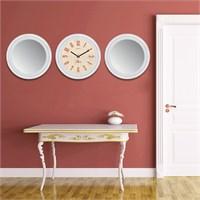Cadran Home 2'Li Ayna Ve Duvar Saati Set Chas28