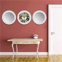 Cadran Home 2'Li Ayna Ve Duvar Saati Set Chas30