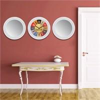 Cadran Home 2'Li Ayna Ve Duvar Saati Set Chas32