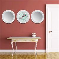 Cadran Home 2'Li Ayna Ve Duvar Saati Set Chas34