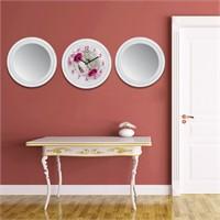 Cadran Home 2'Li Ayna Ve Duvar Saati Set Chas40