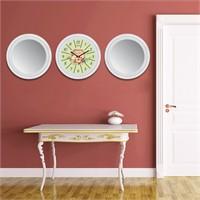 Cadran Home 2'Li Ayna Ve Duvar Saati Set Chas48