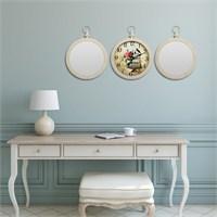 Cadran Home 2'Li Ayna Ve Duvar Saati Set Chas55