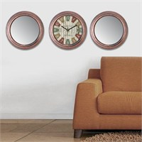 Cadran Home 2'Li Ayna Ve Duvar Saati Set Chas4