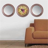 Cadran Home 2'Li Ayna Ve Duvar Saati Set Chas8