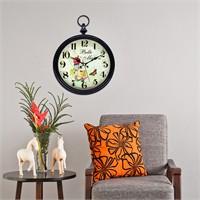Cadran Home Köstekli Duvar Saati Çiçekler