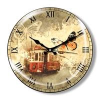 Clocktime By Cadran Dekoratif Bombeli Cam Duvar Saati Ct12