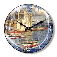 Clocktime By Cadran Dekoratif Bombeli Cam Duvar Saati Ct15