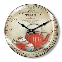 Clocktime By Cadran Dekoratif Bombeli Cam Duvar Saati Ct27