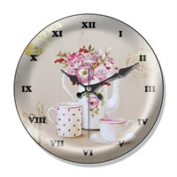 Clocktime By Cadran Dekoratif Bombeli Cam Duvar Saati Ct38