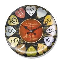 Clocktime By Cadran Dekoratif Bombeli Cam Duvar Saati Ct42