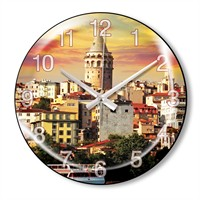 Clocktime By Cadran Dekoratif Bombeli Cam Duvar Saati Ct63