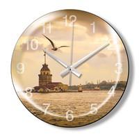 Clocktime By Cadran Dekoratif Bombeli Cam Duvar Saati Ct80